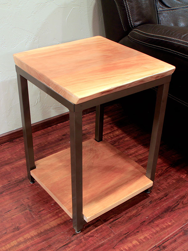 Sycamore and Steel End Table